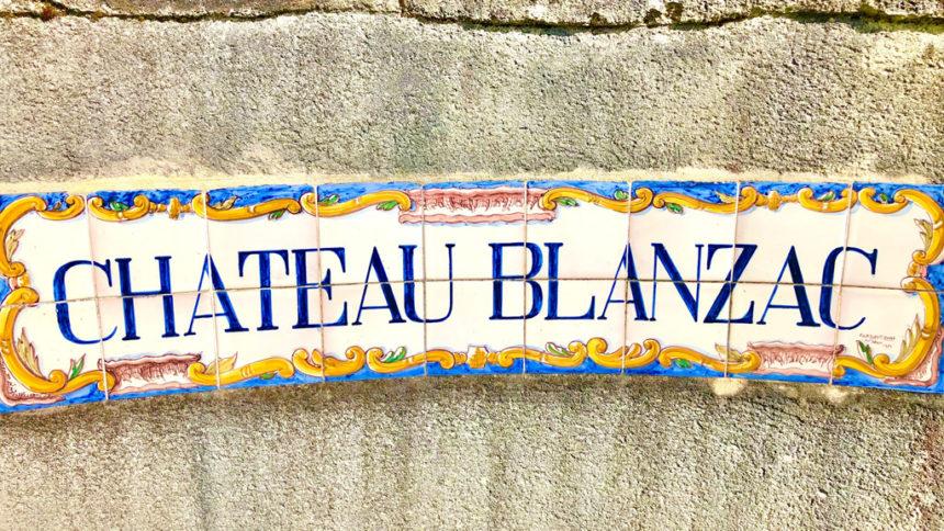 entree chateau Blanzac castillon cotes de bordeaux